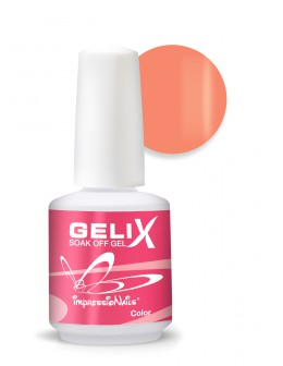 ImpressioNails Gelix Soak Off Color Gel 15ml - Orange Ice Cream