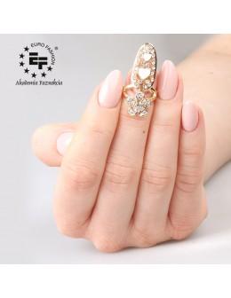 Pierścionek na paznokieć Nail Ring nr 018 - złoty