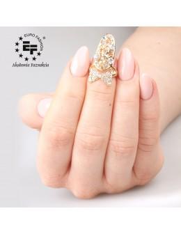 Pierścionek na paznokieć Nail Ring nr 020 - złoty