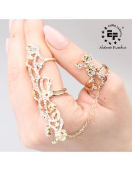 Pierścionek na paznokieć Nail Ring nr 0271 - złoty