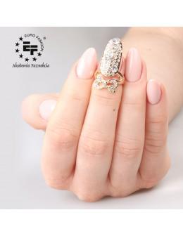 Pierścionek na paznokieć Nail Ring nr 024 - złoty