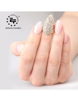 Pierścionek na paznokieć Nail Ring nr 028 - złoty