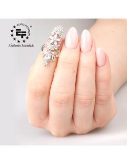 Pierścionek na paznokieć Nail Ring nr 021 - srebrny