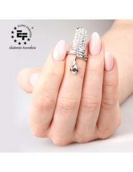 Nail Ring no 038 - silver