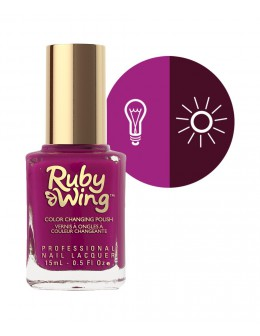 Lakier zmieniajacy kolor Ruby Wing Nail Lacquer 15ml - Crowd