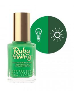 Lakier zmieniajacy kolor Ruby Wing Nail Lacquer 15ml - Green Peace