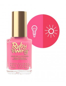 Lakier zmieniajacy kolor Ruby Wing Nail Lacquer 15ml - Groupie