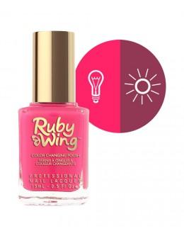Lakier zapachowy zmieniający kolor Ruby Wing Nail Lacquer 15ml - Poppy