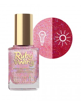 Lakier zapachowy zmieniający kolor Ruby Wing Nail Lacquer 15ml - Rose
