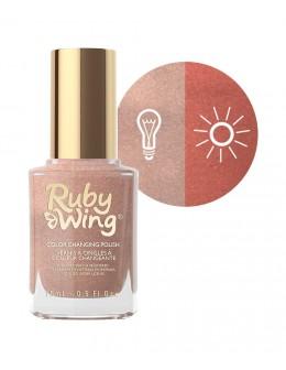 Lakier zmieniający kolor Ruby Wing Nail Lacquer 15ml - Bonfire