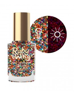 Ruby Wing Nail Lacquer 0.5oz - Sparkle & Shine
