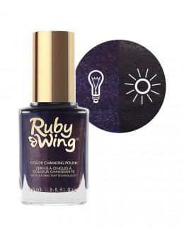 Lakier zmieniający kolor Ruby Wing Nail Lacquer 15ml - Dark Wash