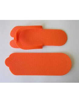 Laczki do pedicure z gąbki - pomarańczowe