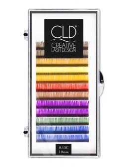 Rzęsy kolorowe CLD Multicolor Single Lashes Pack (C, 0.15, 10)