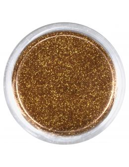 Brokat drobny nr 004 - ciemny złoty
