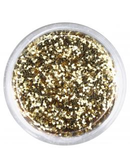 Brokat drobny nr 008 - złoty