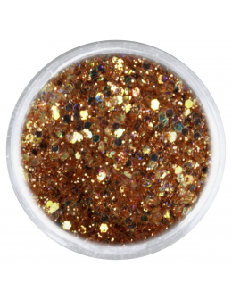 Confetti with glitter dust - gold