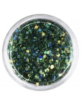 Confetti with glitter dust - dark green