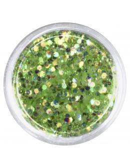 Konfetti z brokatem jasno zielone