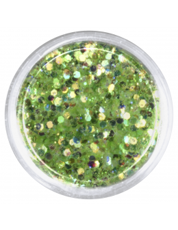 Confetti with glitter dust - light green