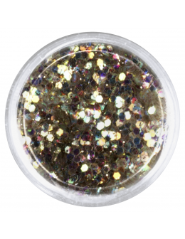 Confetti with glitter dust - light gold
