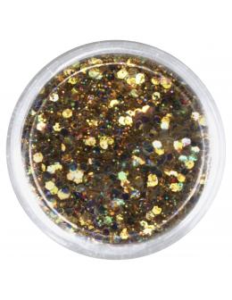 Confetti with glitter dust - gold