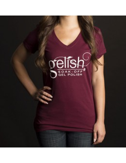 Gelish Ladies T-Shirt Burgundy