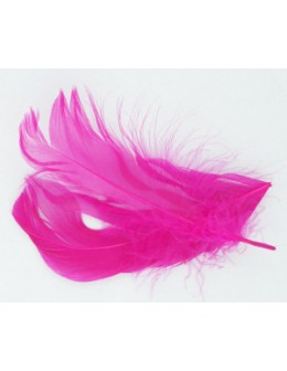 Pióro barwione 2szt - neonowy róż