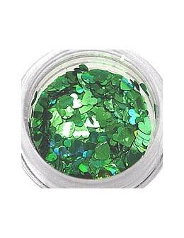 Konfetti - serca zielone