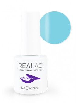 4Pro Nail Tech REALAC Soak Off Gel Polish 8ml - 078 - Soft Blue
