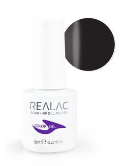 4Pro Nail Tech REALAC Soak Off Gel Polish 8ml - 02 - Black