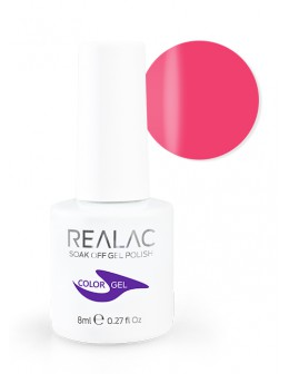 Żellakier 4Pro Nail Tech REALAC Soak Off Gel Polish 8ml - 11 - Neon Pink