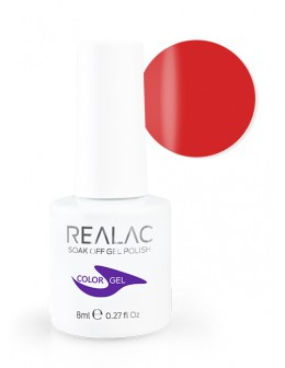 4Pro Nail Tech REALAC Soak Off Gel Polish 8ml - 09 - Hot Red