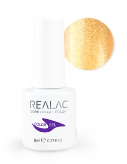 4Pro Nail Tech REALAC Soak Off Gel Polish 8ml - 30 - Golden Fish