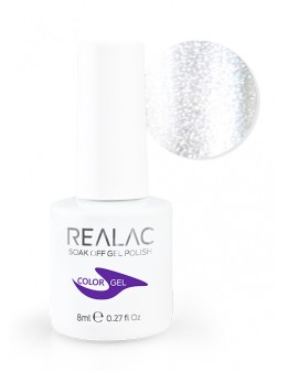 4Pro Nail Tech REALAC Soak Off Gel Polish 8ml - 34 - Silver Star