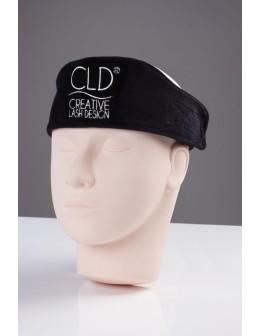 Opaska welurowa z logo CLD