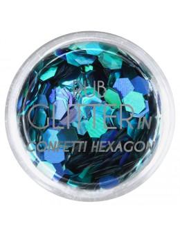 Brokat Rub Glitter In - Confetti Hexagon 2