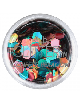 Brokat Rub Glitter In - Confetti Hexagon 4