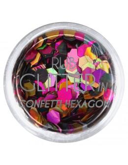 Brokat Rub Glitter In - Confetti Hexagon 5