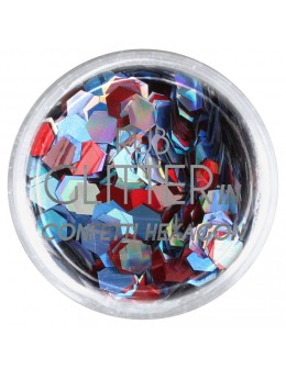 Brokat Rub Glitter In - Confetti Hexagon 6