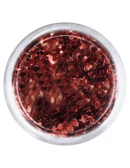 Konfetti brokat hologram - brązowy opalizujący