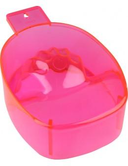 Miseczka do manicure - neonowa różowa przezroczysta