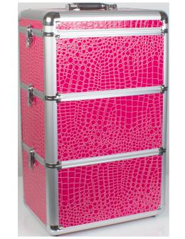 Kuferek kosmetyczny MT007 - różowy