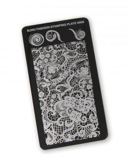 Euro Fashion Nail Art Stamping Plate - 005S
