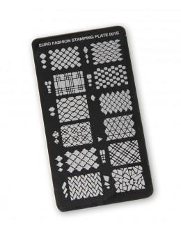 Euro Fashion Nail Art Stamping Plate - 001S