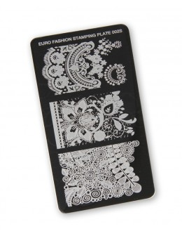 Euro Fashion Nail Art Stamping Plate - 002S