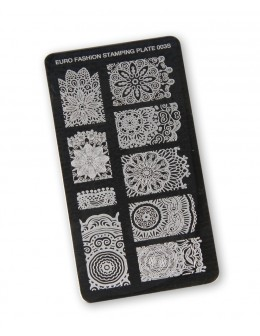 Euro Fashion Nail Art Stamping Plate - 003S