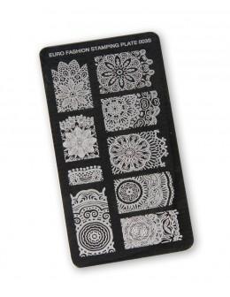 Euro Fashion Nail Art Stamping Plate - 003S