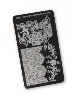 Euro Fashion Nail Art Stamping Plate - 004S