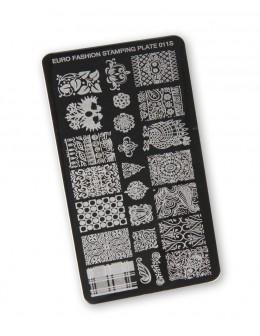 Euro Fashion Nail Art Stamping Plate - 011S